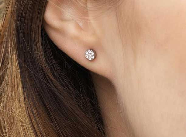 diy plastic surgical clear studs backs pin earrings